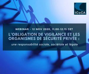 ICoCA organise un premier webinar en Français